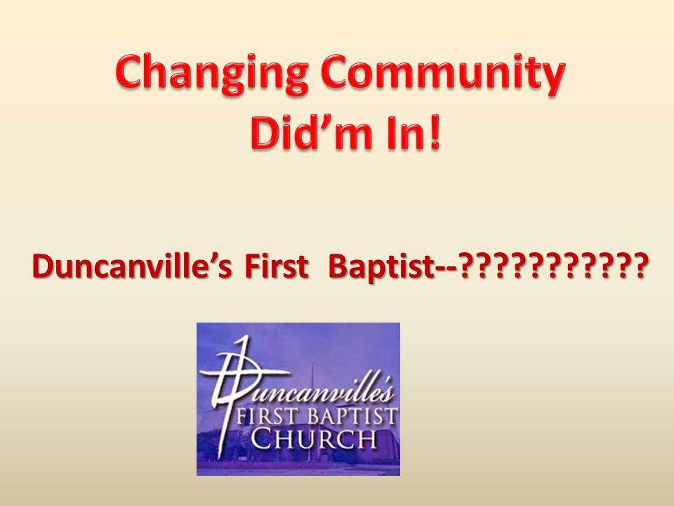 Duncanville's First Baptist--???????????
