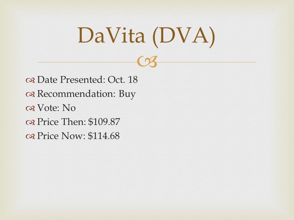   Date Presented: Oct.