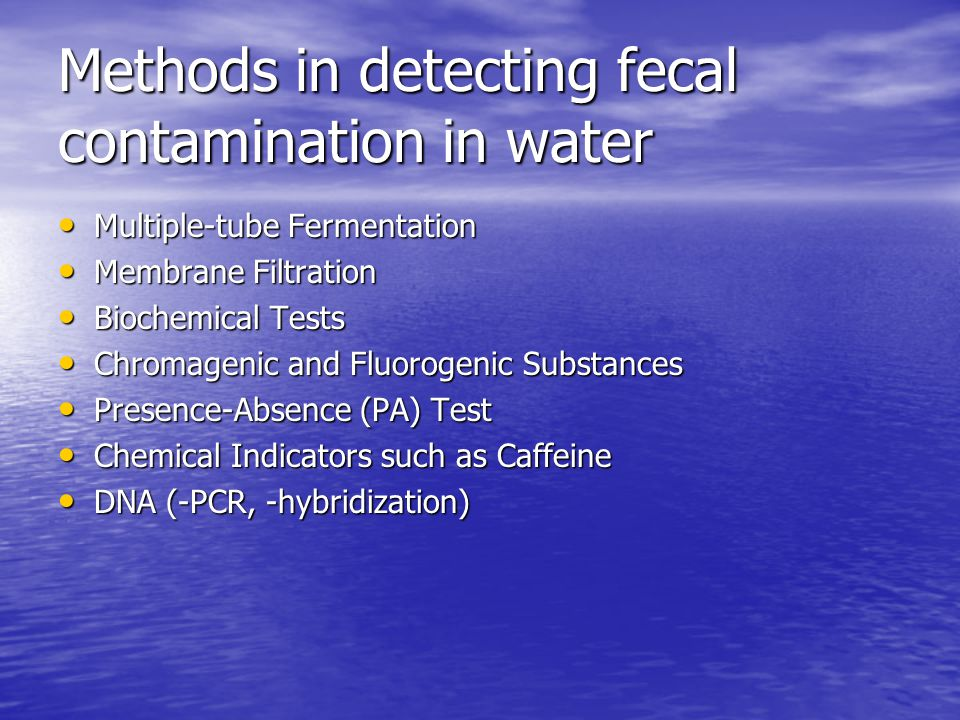 BASIS OF STANDARDS Fecal Coliform standard is empirically based, and an indicator of the presence of conditions that are likely to have pathogens present (not recommended in the 2004 proposed rules based on epidemiological studies conducted by EPA).