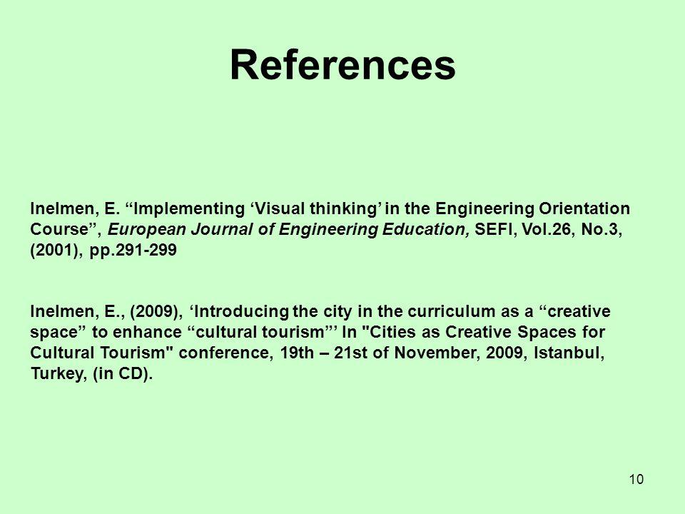 10 References Inelmen, E.
