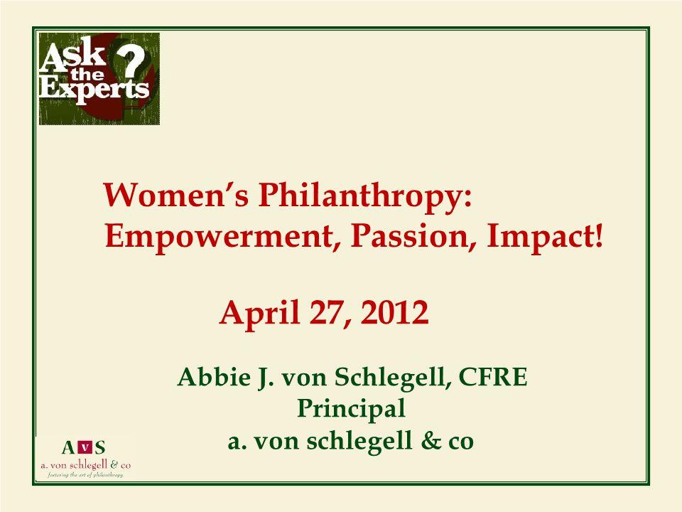 April 27, 2012 Abbie J. von Schlegell, CFRE Principal a.