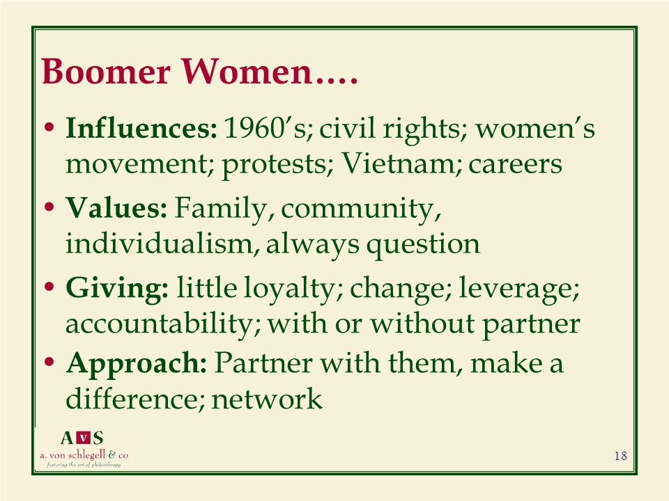 Boomer Women….