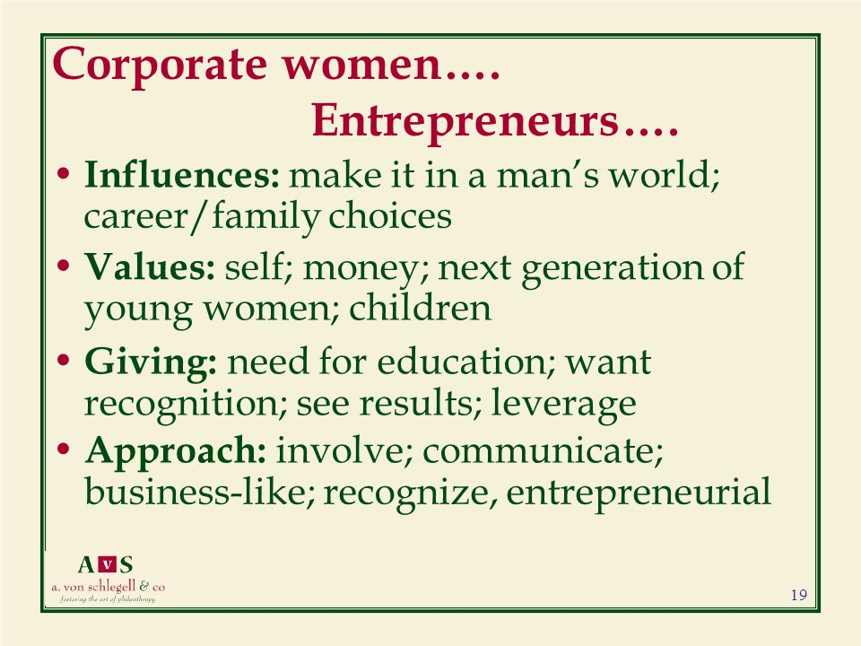 Corporate women…. Entrepreneurs….