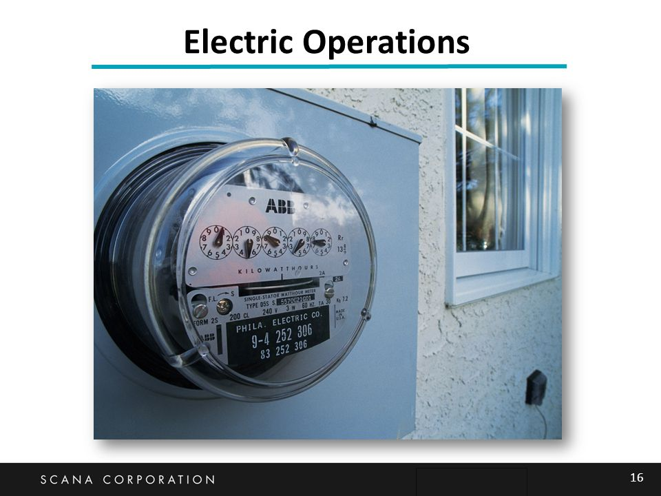 16 Electric Operations
