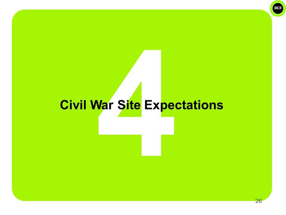 BCF 4 Civil War Site Expectations 26