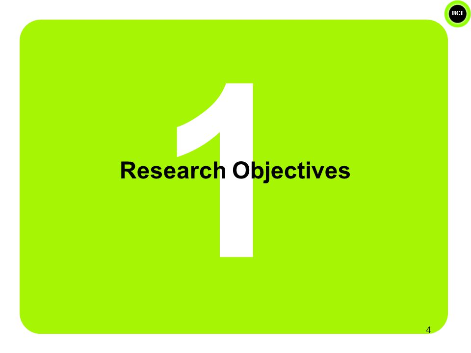 BCF 1 Research Objectives 4