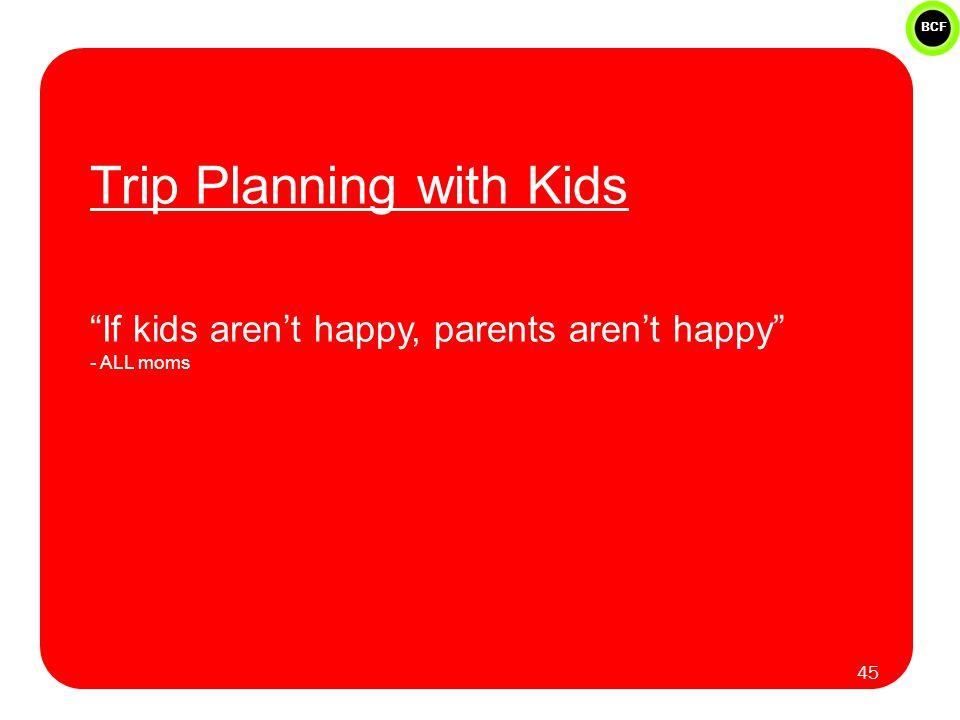 "BCF Trip Planning with Kids ""If kids aren't happy, parents aren't happy"" - ALL moms 45"