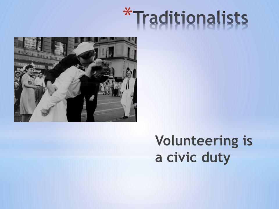Volunteering is a civic duty