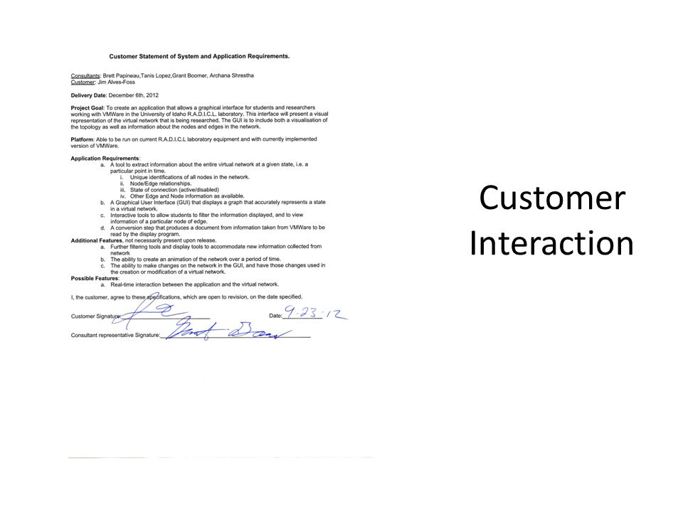 Customer Interaction