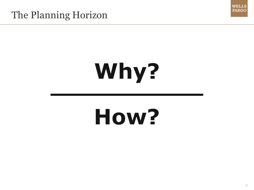 10 The Planning Horizon Why How