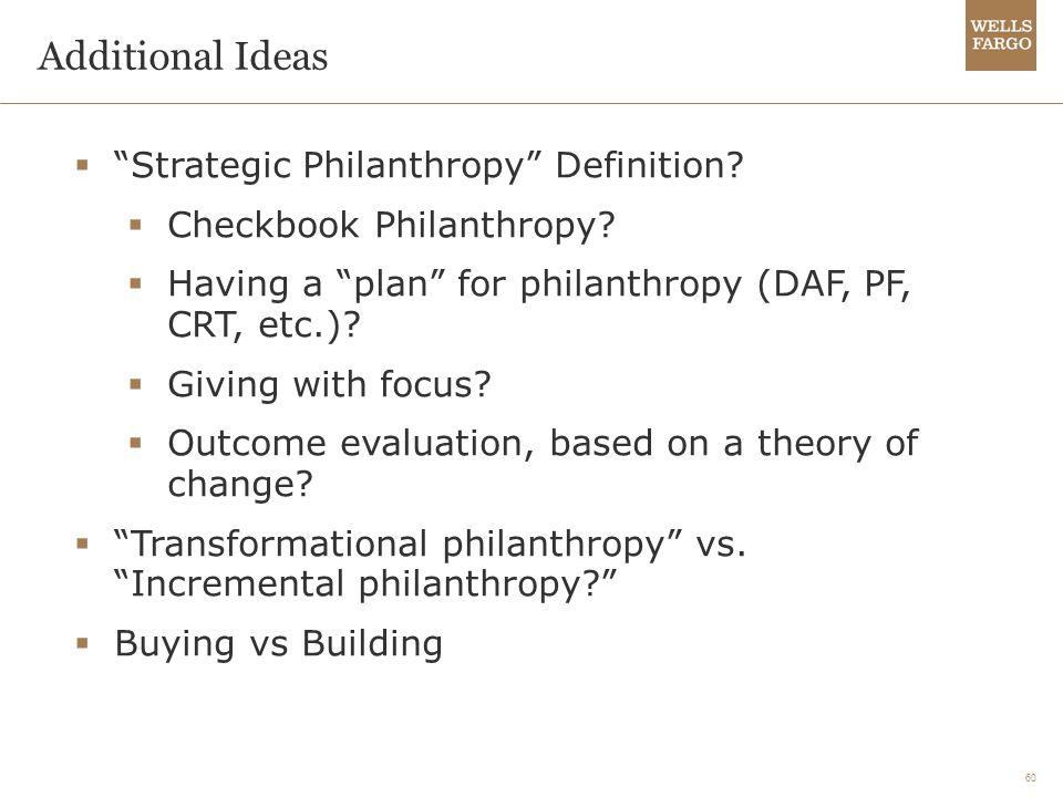 60 Additional Ideas  Strategic Philanthropy Definition.