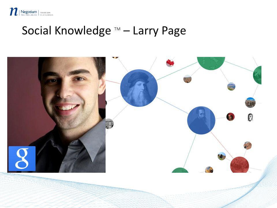 Social Knowledge TM – Larry Page