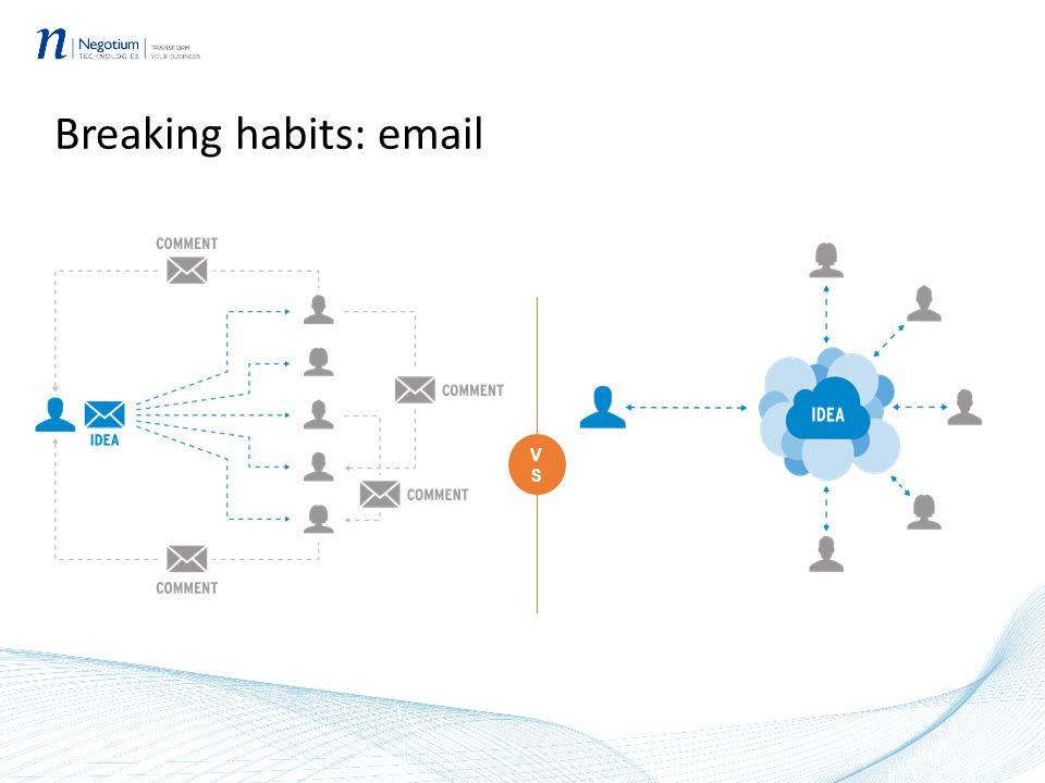 Breaking habits: email VSVS