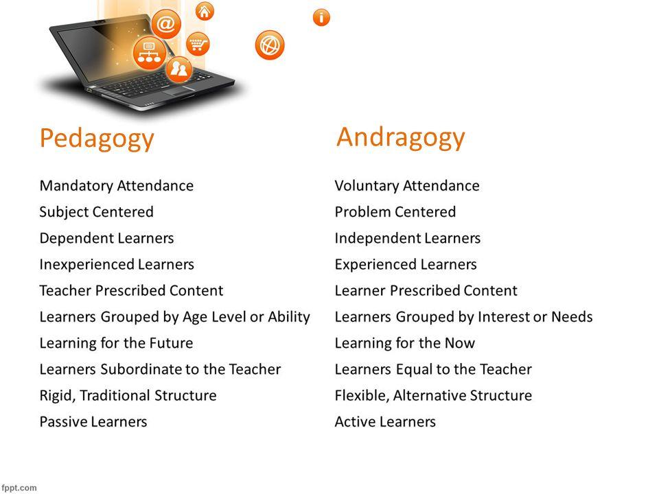 Pedagogy Andragogy