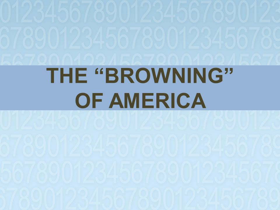 THE BROWNING OF AMERICA