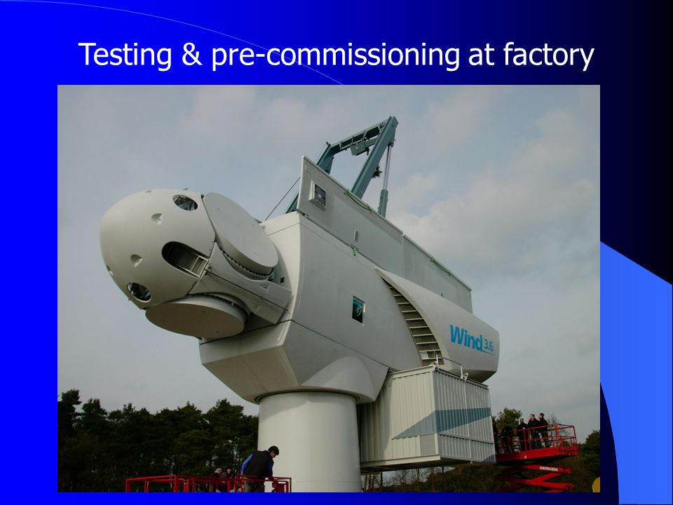 Testing & pre-commissioning at factory