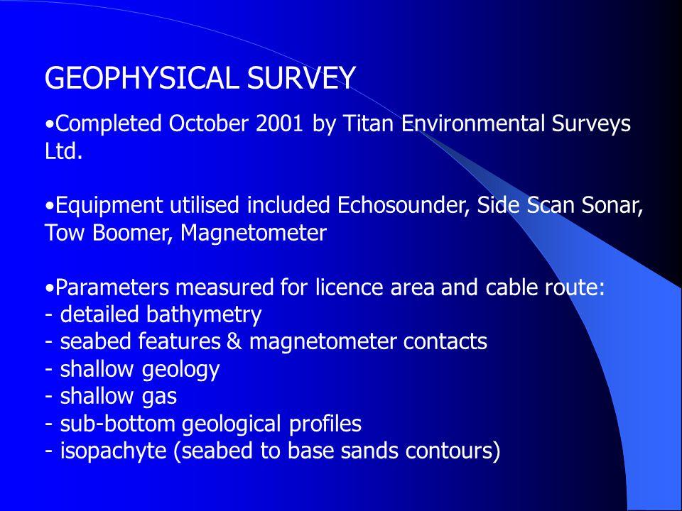 GEOPHYSICAL SURVEY Completed October 2001 by Titan Environmental Surveys Ltd.