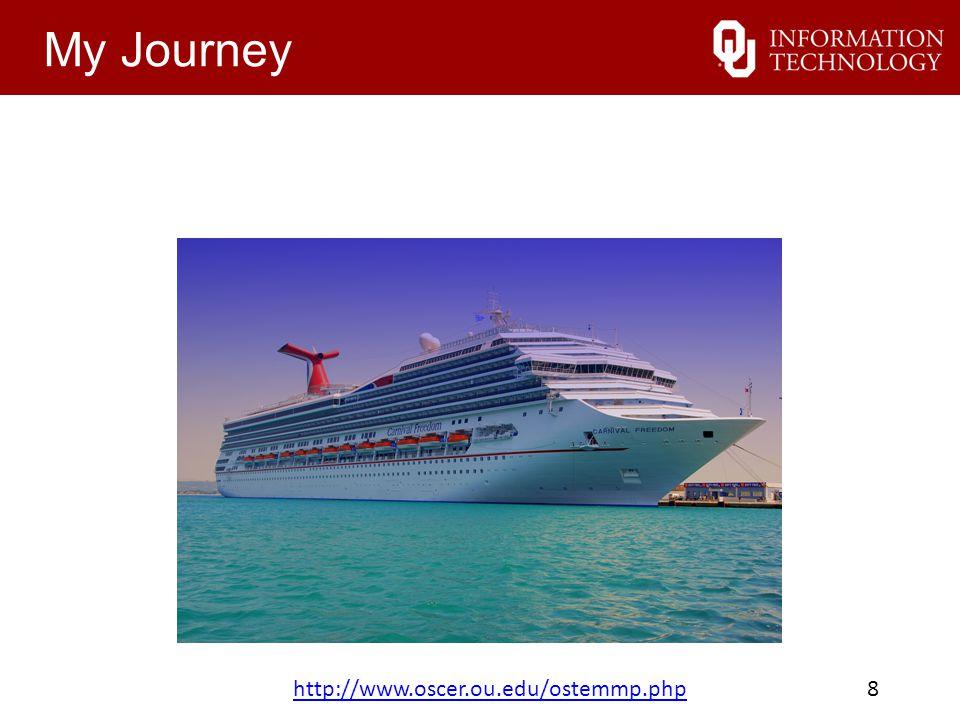 My Journey http://www.oscer.ou.edu/ostemmp.phphttp://www.oscer.ou.edu/ostemmp.php 8