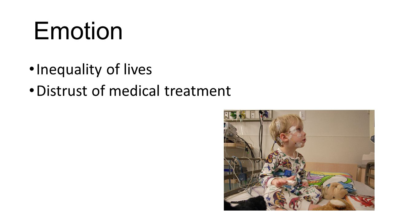 Emotion Inequality of lives Distrust of medical treatment