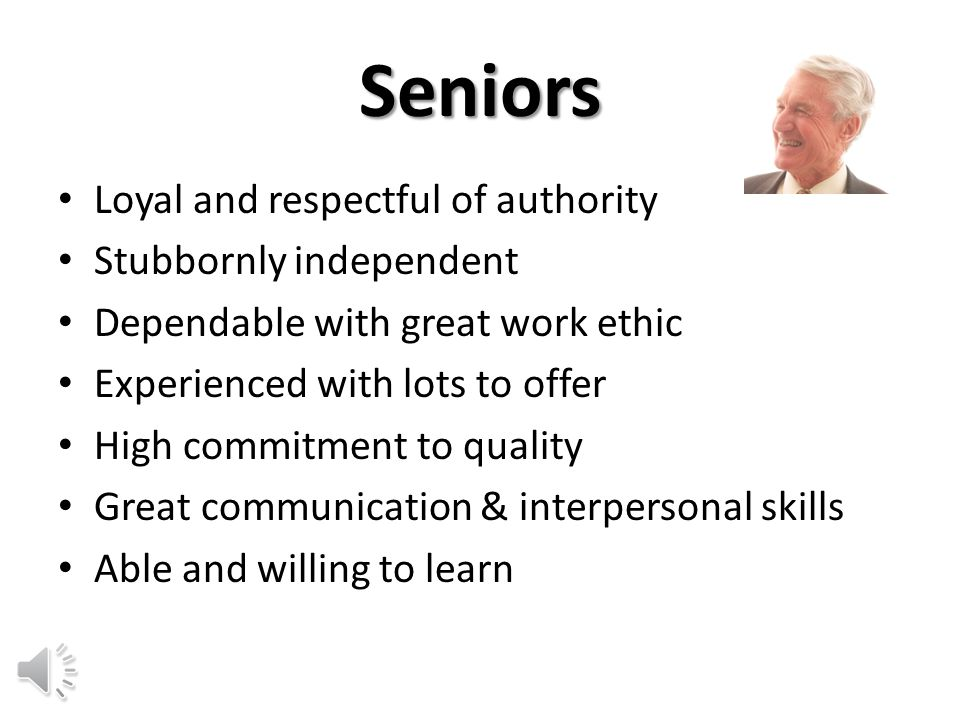 Course Objectives Name the four generations in today's workforce Describe seven characteristics unique to each generation List five tips for managing intergenerational tensions Match each management tip to a given scenario By the end of this course, employees will be able to: