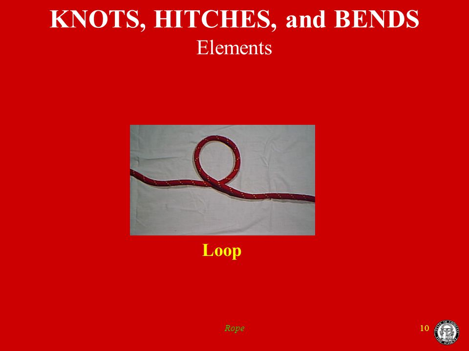 Rope10 KNOTS, HITCHES, and BENDS Elements Loop