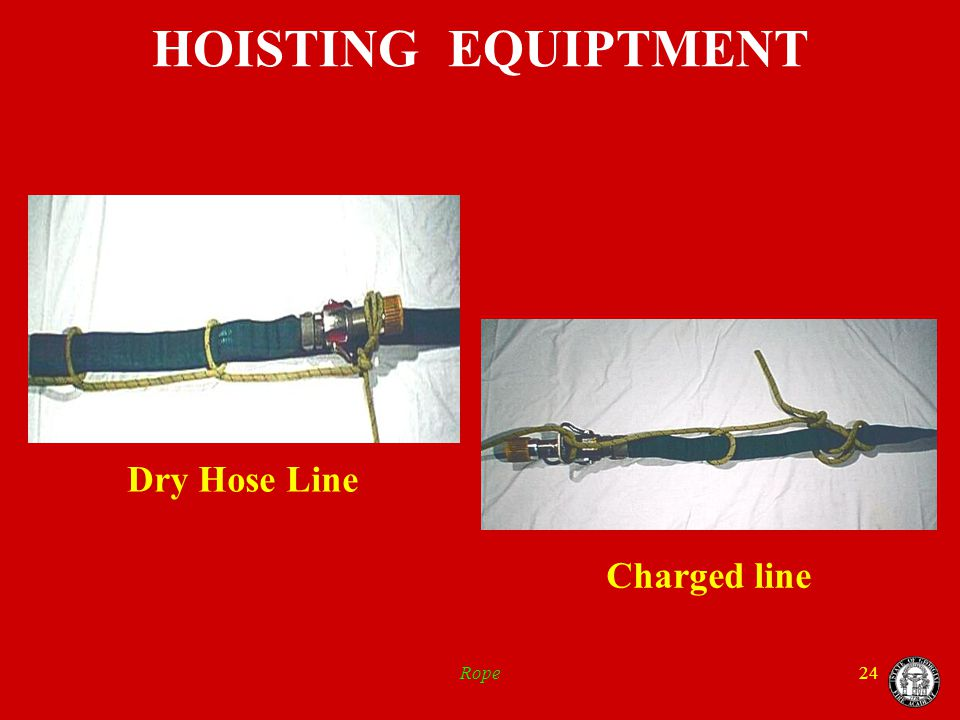 Rope24 HOISTING EQUIPTMENT Dry Hose Line Charged line