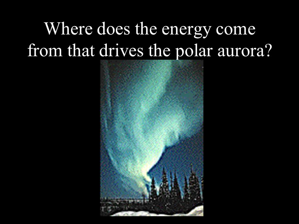 Where does the energy come from that drives the polar aurora