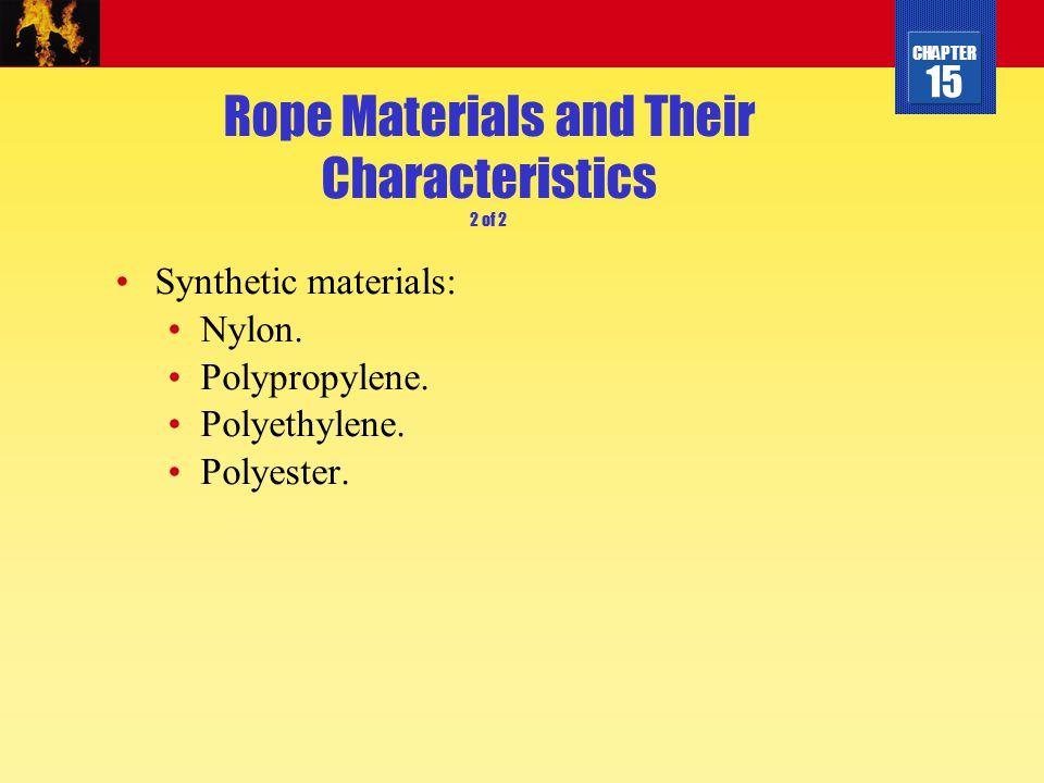 CHAPTER 15 Polyethylene Rope