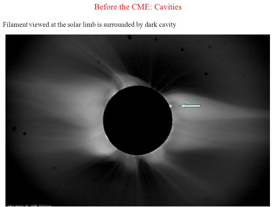 Before the CME: Cavities Filament viewed at the solar limb is surrounded by dark cavity