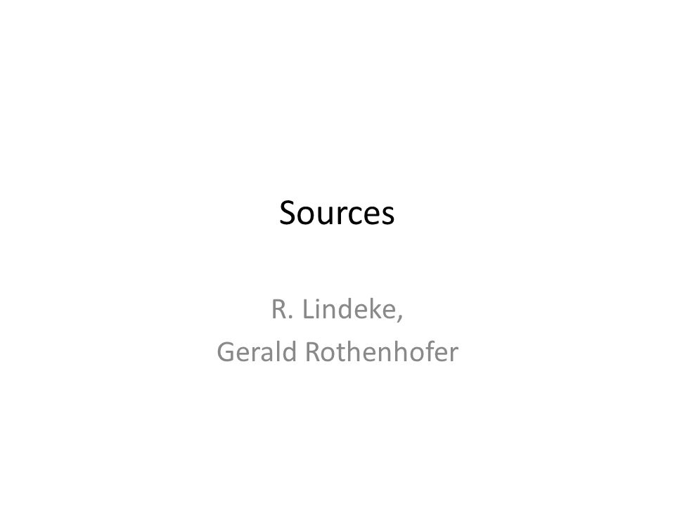 Sources R. Lindeke, Gerald Rothenhofer