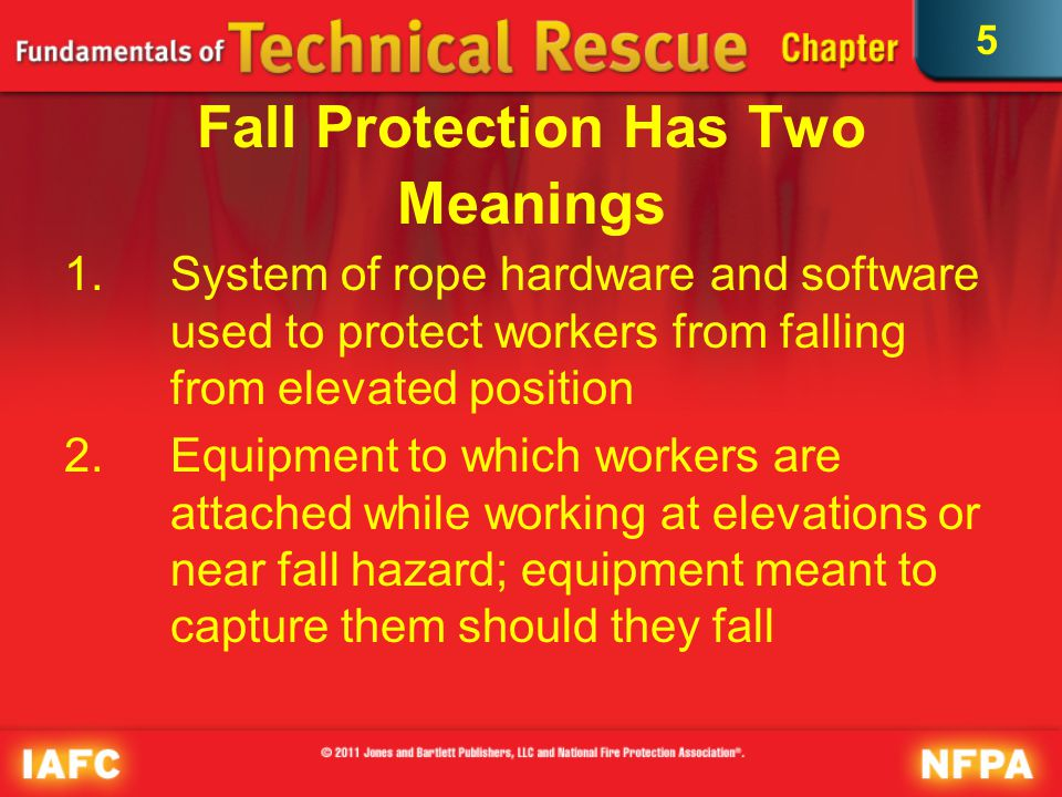 5 Rope Rescue System Constructed system consisting of rope rescue equipment and appropriate anchor system intended for use in rescue of subject Use requires rescue teams or individuals trained to use equipment