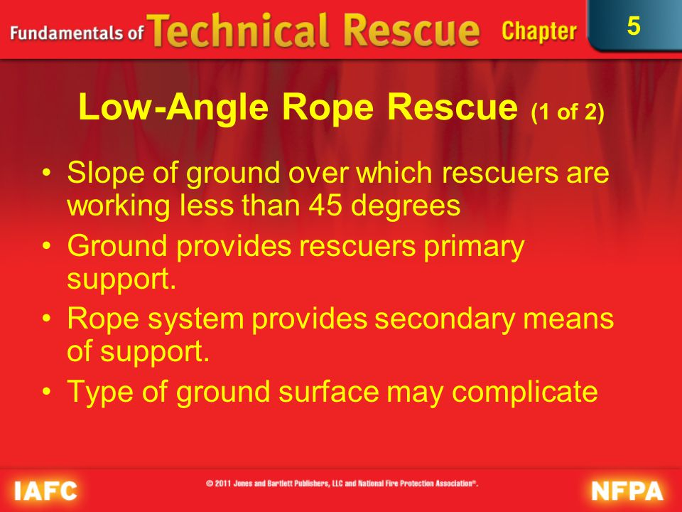 5 Low-Angle Rope Rescue (2 of 2) © Keith D. Cullom