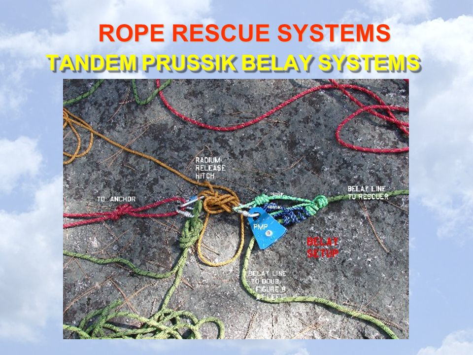 ROPE RESCUE SYSTEMS TANDEM PRUSSIK BELAY SYSTEMS