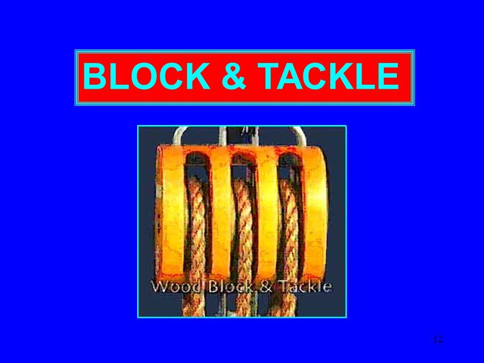 12 BLOCK & TACKLE