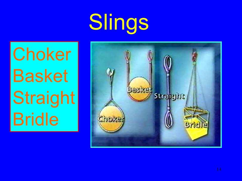 14 Slings Choker Basket Straight Bridle