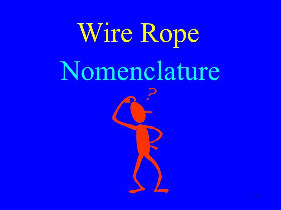 2 Wire Rope Nomenclature