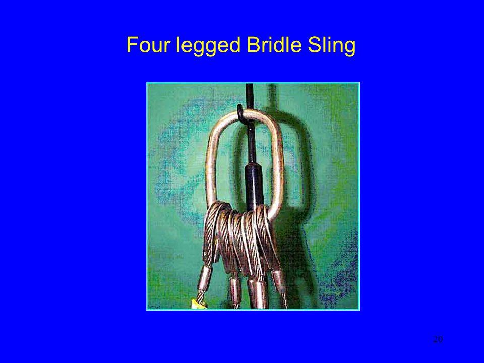 20 Four legged Bridle Sling
