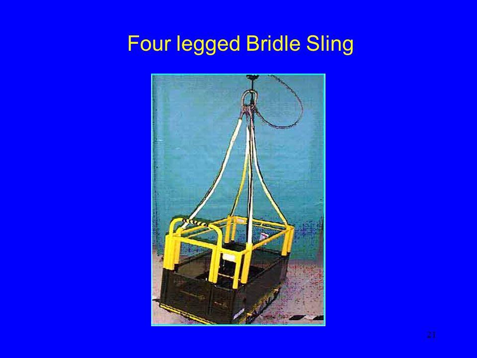 21 Four legged Bridle Sling