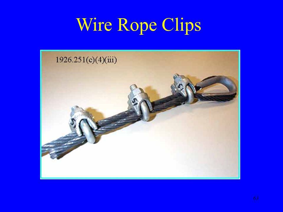 63 Wire Rope Clips