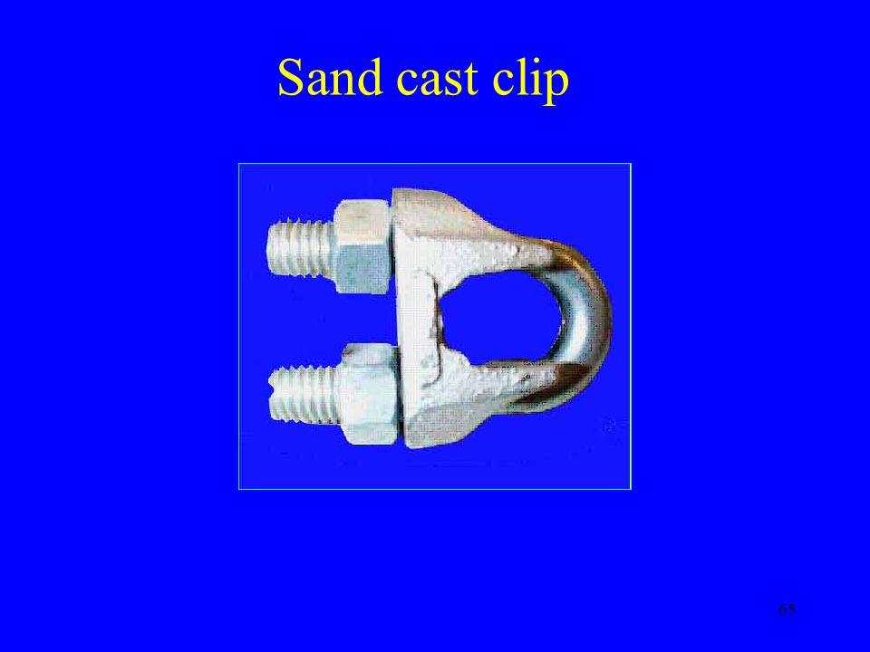65 Sand cast clip