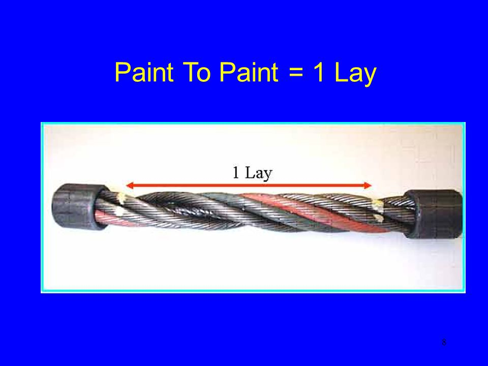 8 Paint To Paint = 1 Lay