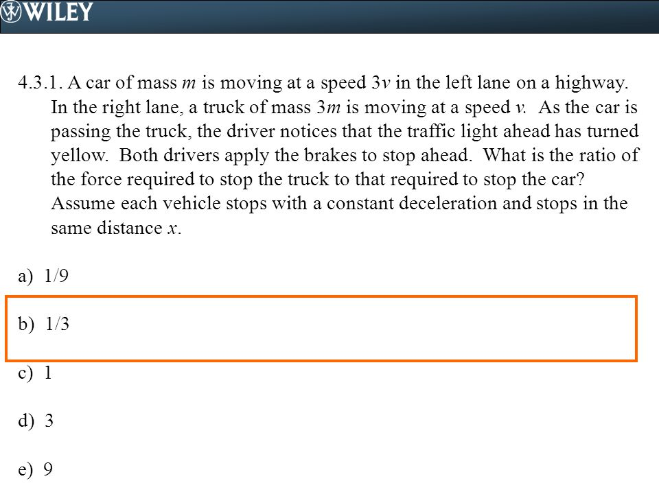 4.3.2.A car is driving due south through a parking lot and its speed is monitored.