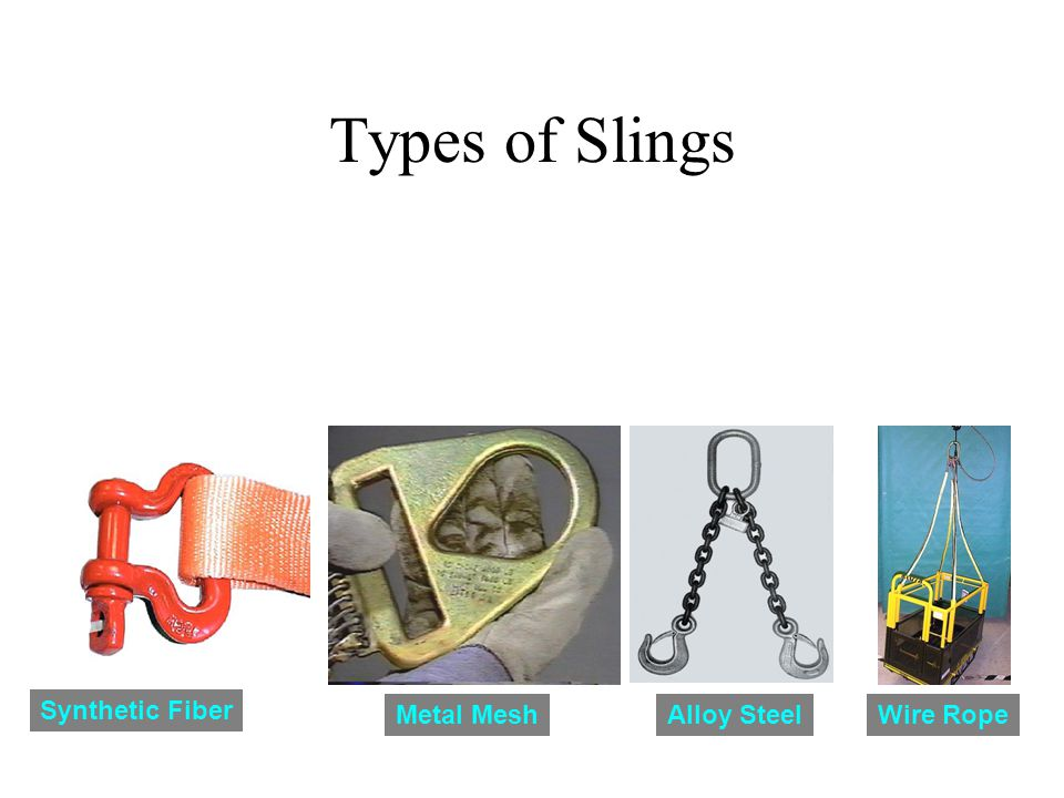 Types of Slings Synthetic Fiber Metal MeshAlloy SteelWire Rope