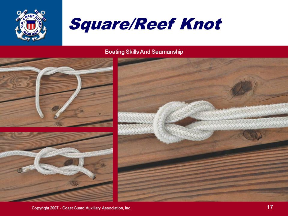 Boating Skills And Seamanship 17 Copyright 2007 - Coast Guard Auxiliary Association, Inc.