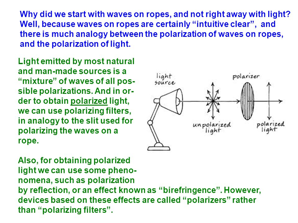 Why did we start with waves on ropes, and not right away with light.