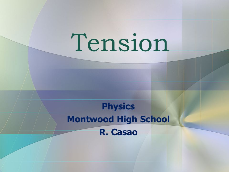 Tension Tension is a pulling force that arises when a rope, string, or other long thin material resists being pulled apart without stretching significantly.