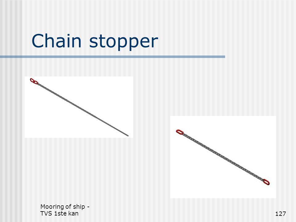 Mooring of ship - TVS 1ste kan127 Chain stopper