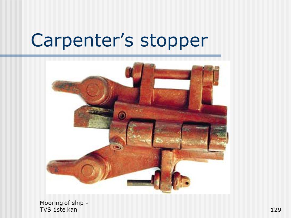 Mooring of ship - TVS 1ste kan129 Carpenter's stopper