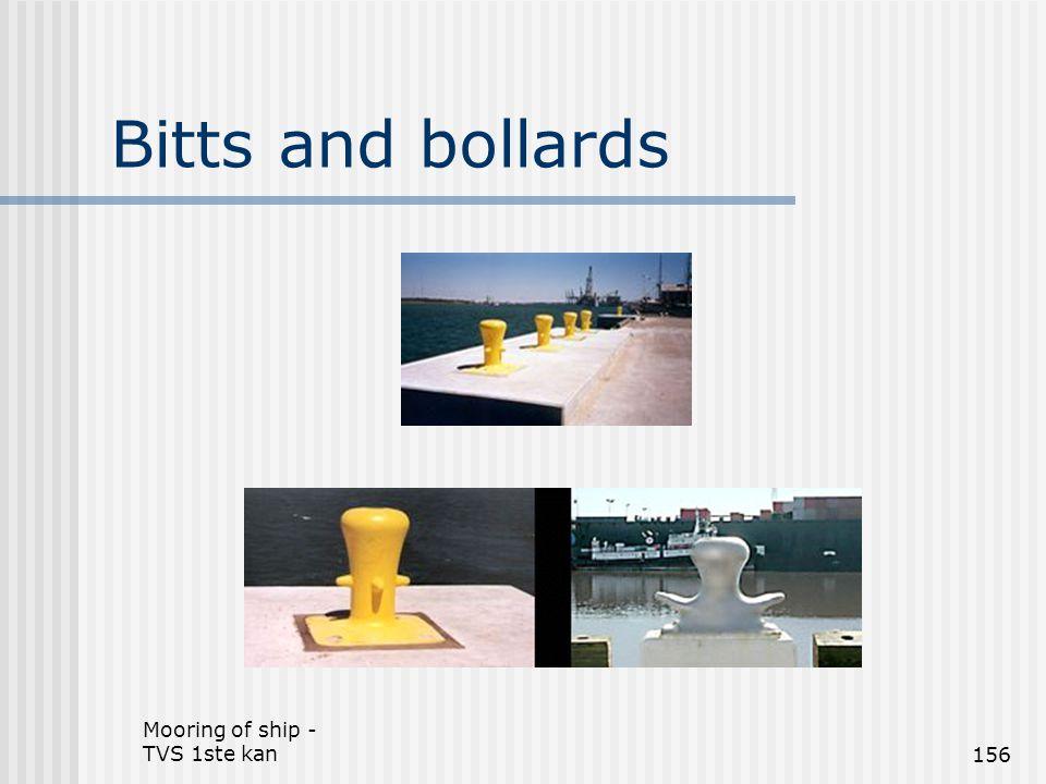 Mooring of ship - TVS 1ste kan156 Bitts and bollards