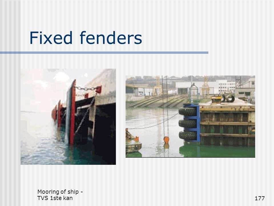 Mooring of ship - TVS 1ste kan177 Fixed fenders